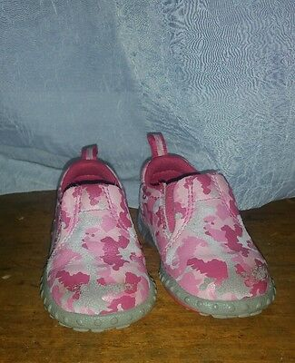 Merrell girls Toddler  jungle moc pink camo size 4 leather