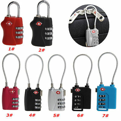 Hot TSA Resettable 3 Digit Combination Lock Travel Luggage Suitcase Code Padlock