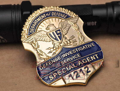 US Special Agent Copper Pin Brooches American Badges Cosplay Metal Badge NO.1212