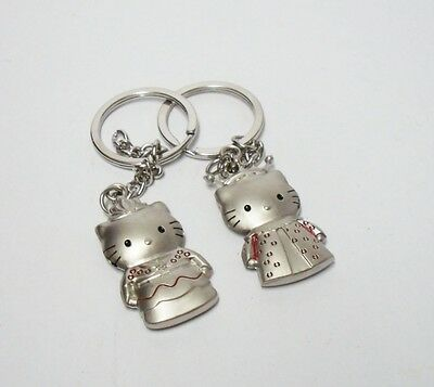 Queen Hello Kitty And King Daniel Metal Keychain Pair