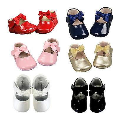 Baby Girls Boy Pre walker Toddler Shoes Infant leather shoes  soft sole size 0-4