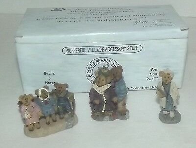 Nib Boyds Bears Bearly Built Villages Accessories Beary Well Clinic