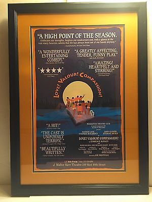 Broadway NY Theater Poster Love! Valour! Compassion! Professionally Framed 1995