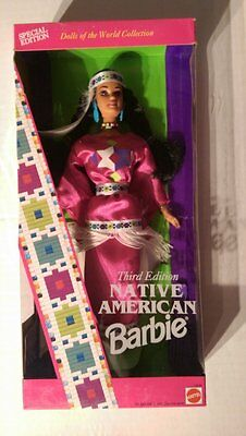 New in Box - Mattel Native American Barbie Dolls of the World Collection