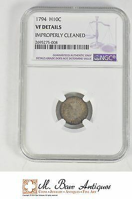 VF Details 1794 Flowing Hair Half Dime - Graded NGC *XC22