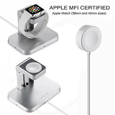 Magnetic Charger Charging Cable(1m) & Stand for Apple Watch iWatch 38mm & 42mm