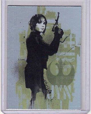 JYN ERSO 2016 Topps Star Wars Rogue One Mission Briefing 1 of 9 Foil Insert Card