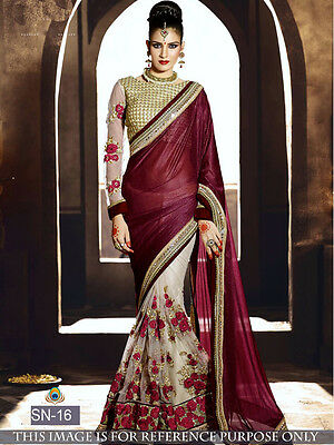 Indian Bollywood Saree Wedding Bridal Lehenga Party Ethnic Wear Sari Traditional