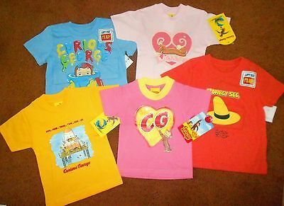 FREE SHIPPING! BRAND NEW CURIOUS GEORGE T-SHIRTS SIZE 6M-18M