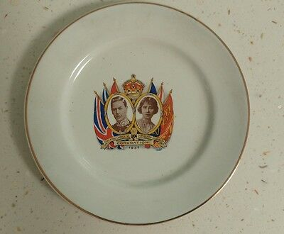 Coronation Plate 1937 King George And Queen Elizabeth