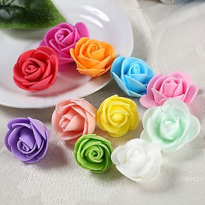 50/100pcs Handmade DIY Rose Flowers For Wedding Party Home Decoration Festivals