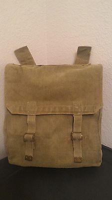 Danish/British Marked, WWII 40's Dated Military-Issued Canvas Rucksack/Backpacks