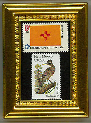 New Mexico State Flag, Bird & Flower A Collectible Postage Masterpiece!