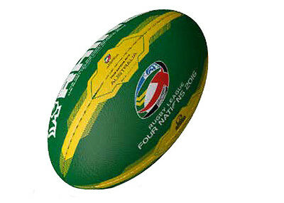 Official Australia Supporters Rugby Rugby Ball | 4 Nations - Size 1 (mini)