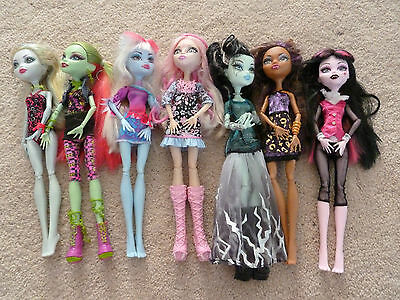 Monster High Dolls - Bulk lot - Lagoona Venus Abbey Viperine Frankie Draculaura