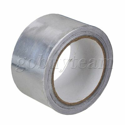 Silver 60mm Width Adhesive Aluminum Foil Bright Flash Reflective Tape 20m Length