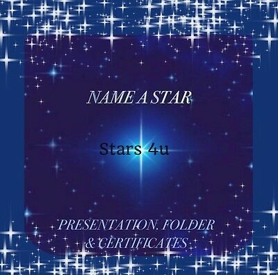 ☆NAME A STAR .PERFECT PERSONALISED Gift ☆All Occasions. Christmas. Secret Santa