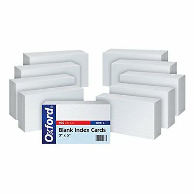 "Oxford Blank Index Cards, 3"" x 5"", White, 10 Packs of 100 (30)"