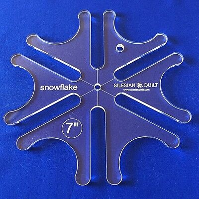 Quilting Template: Template SNOWFLAKE 7 inches