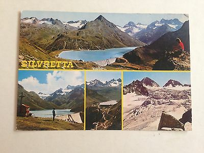 Austria Silvretta Multiple Views Postcard 1978