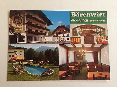 Austria Gasthof Arenwirt Aich Assach Multiple Views Postcard 1988