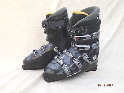 Salomon Evolution 9.0 Ski Boots,4 Clamps,thermo Lined,good Clean,size 11,mon 290