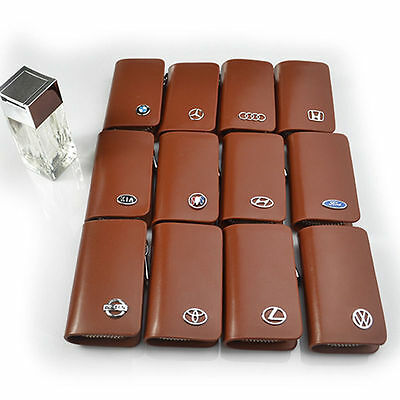 Multi-brand Car Part Soft Key Chain Holder Leather Case With Clip Wallet Pouch