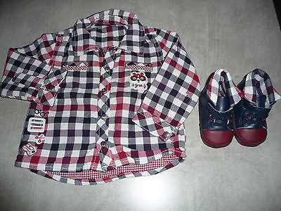 Chemise 9 mois Sergent Major + chaussures assortis