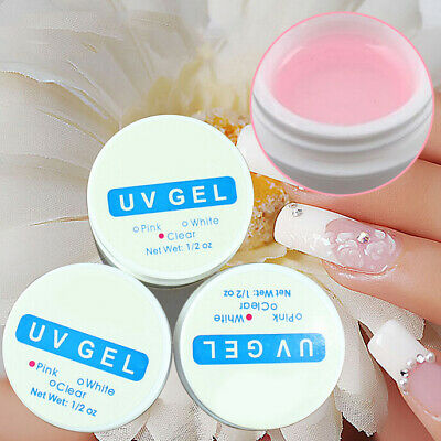 1/3pcs Gel Uv Base Contstruction Finition Au Choix Faux Ongles Manucure Nail Art