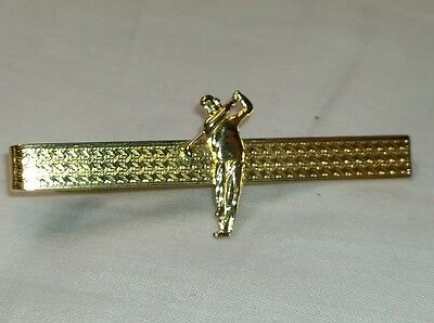 Vintage retro GT English Stratton golfer golf mens tie pin clip Fathers Day