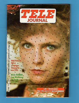 ►Tele Journal  N°312 - 1980 - Nathalie Nell - France Gall - Eddy Mitchell