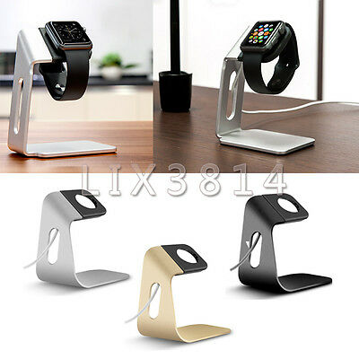 New Aluminum+TPU Stand Cradle Charging Dock Station Holder For Apple Smart Watch