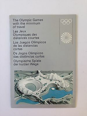 Plan / Guide Olympic Games MÜNCHEN / Munich 1972  with the minimum of travel