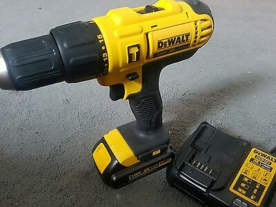 DeWalt DCD776 18V XR Combi Drill with 1 battery & DCB107 multi charger (NEW)
