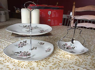 """Midwinter Stylecraft  """"Kasmir"""" Cake Stand And jam Stand And Spoon"""