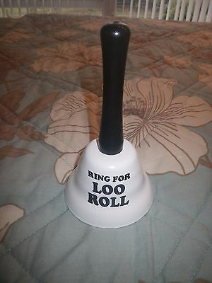 Ring for loo roll hand bell, NEW