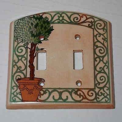 Vintage Terra Cotta Double switch wall plate nice design by All fired up Canada