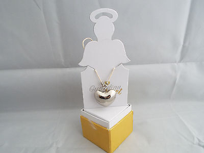 Guardian Angel Chiming Heart Necklace Gift Boxed