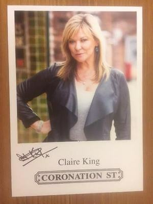 "Claire King Coronation Street Pre-Printed Signature Cast Card 6"" X 4""."