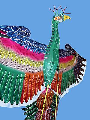 114cm 3D Hand-painted Phonix Bamboo Silk Chinese Kite/Single line/Collectables