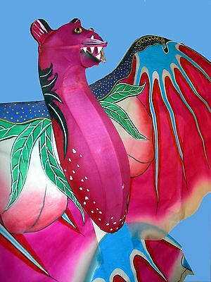 100cm 3D Hand-painted Bat Bamboo Silk Chinese Kite/Single line/Collectables