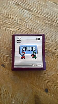 Nintendo Mario Bros. Brothers Vintage Game and Watch Bottle Factory Hand Held