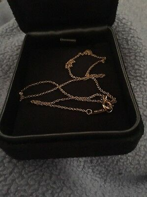 Tiffany & Co 18ct Rose Gold 16 Inch Necklace