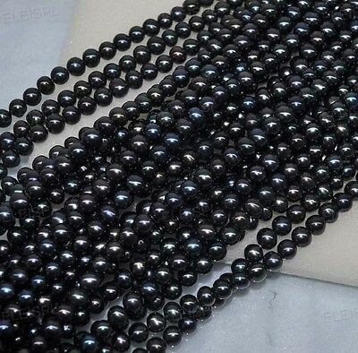 wholesale 5 strands 7mm black freshwater pearl Free shipping