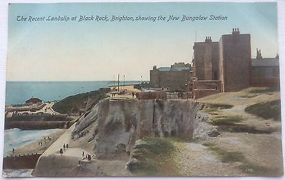 THE RECENT LANDSLIP AT BLACKROCK, BRIGHTON, Early 20th Century POSTCARD