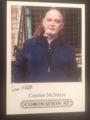 "Connor Mcintyre Coronation Street Pre-Printed Signature Cast Card 6"" X 4""."