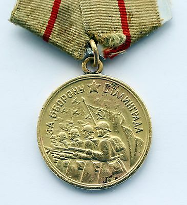 Old Original USSR Soviet Russian Medal For Defense of Stalingrad WWII CCCP WW2