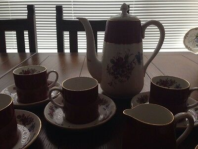 15 Piece Crown Staffordshire Tea Coffee Set