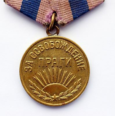 Original USSR Soviet Russian Medal For Liberation of Prague WWII WW2 CCCP MINT