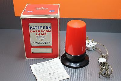 Vintage Paterson Darkroom Orange Lamp with Original Box & Instruction